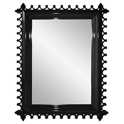 Newport Wall Mirror, Black