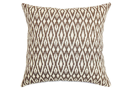 Hafoca 18x18 Cotton Pillow, Chocolate
