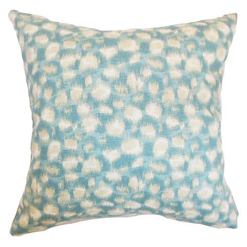 Imperatriz 18x18 Pillow, Aqua