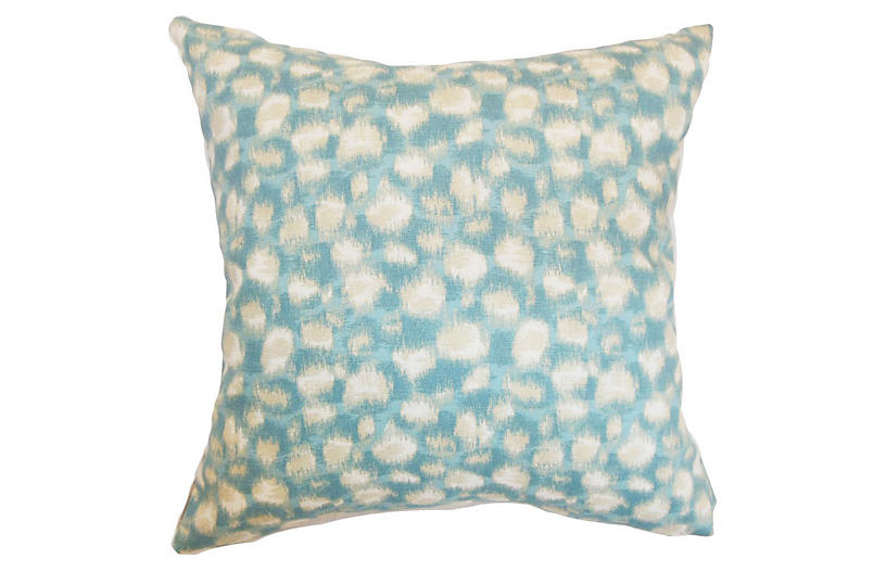 Imperatriz 18x18 Pillow - Aqua
