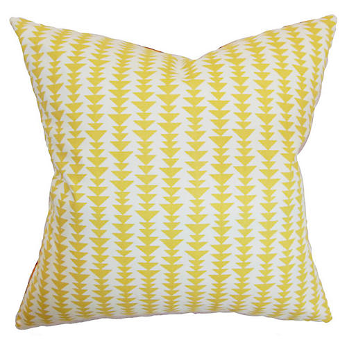 Jiri 18x18 Pillow, Yellow