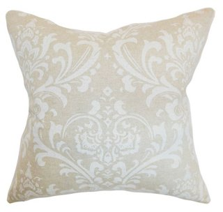 Olavarria Pillow, Ivory - Come be inspired by Get the Look: Warm White Living Room Design With Unfussy Sophisticated Style...certainly soothing indeed.