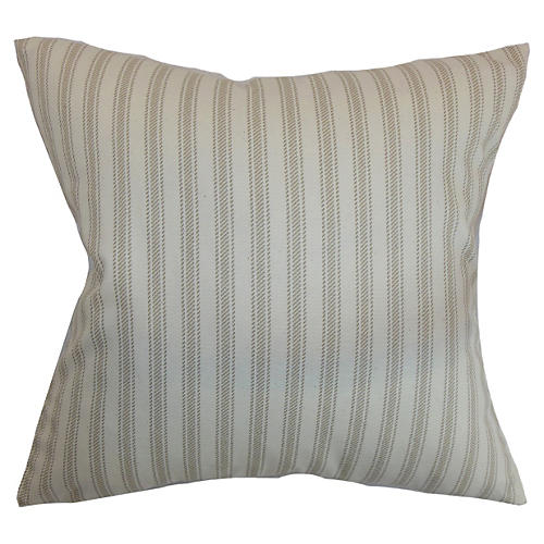 Kelanoa Striped Pillow, Natural