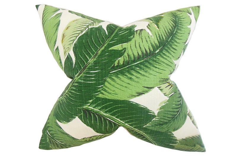 Palm Pillow - Green