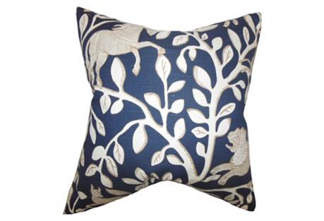 Leaves Pillow, Blue