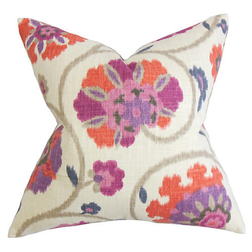Floral Pillow, Fuchsia