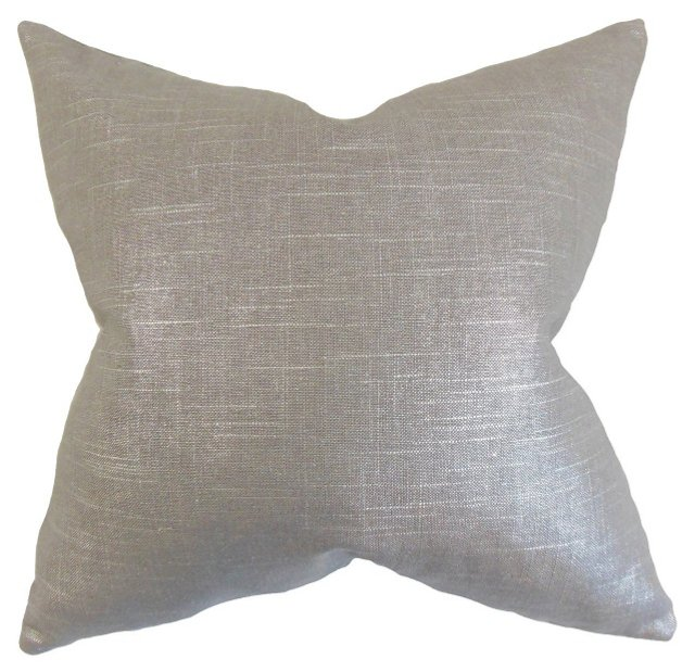Shimmer 18x18 Cotton Pillow, Gray
