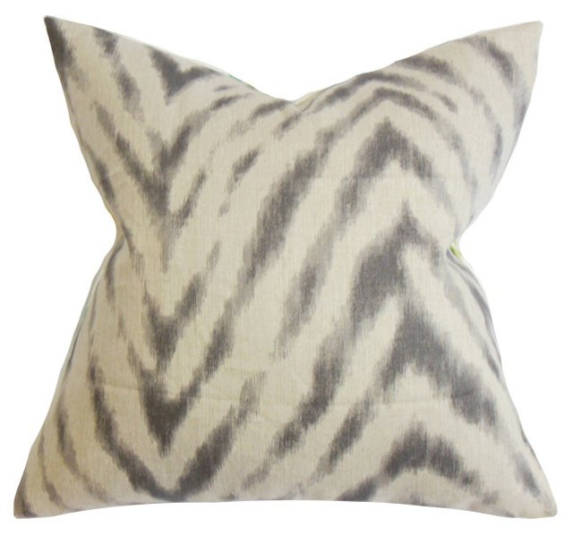 Animal 18x18 Cotton Pillow, Brown