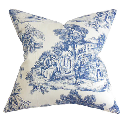 Global Pillow, Blue