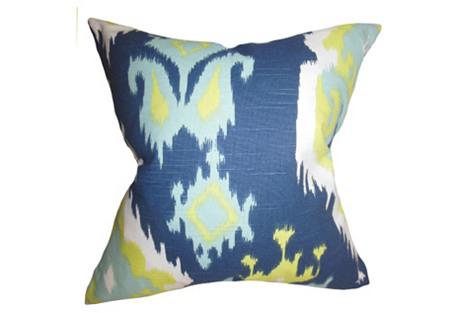 Ikat 18x18 Pillow, Green