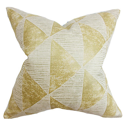 Finula 18x18 Geometric Pillow, Gold