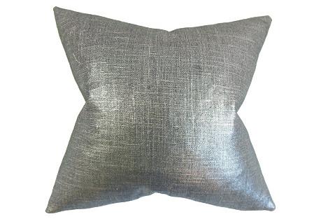 Glitz 18x18 Pillow, Coal
