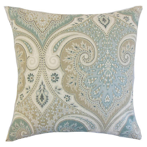 Latika 18x18 Pillow, Seafoam