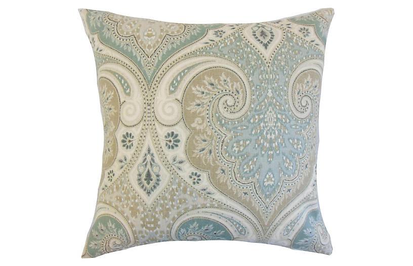 Latika 18x18 Pillow, Seafoam