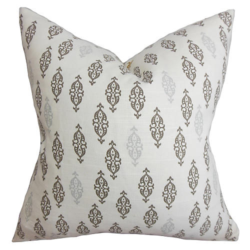 Boteh 18x18 Pillow, Gray