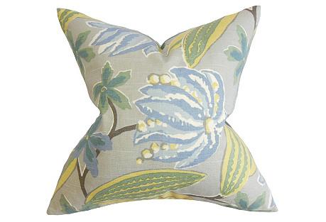 Floral 18x18 Pillow, Rain