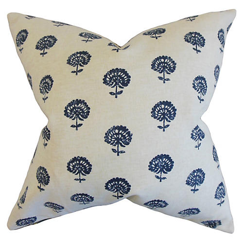 Flora Pillow, Indigo