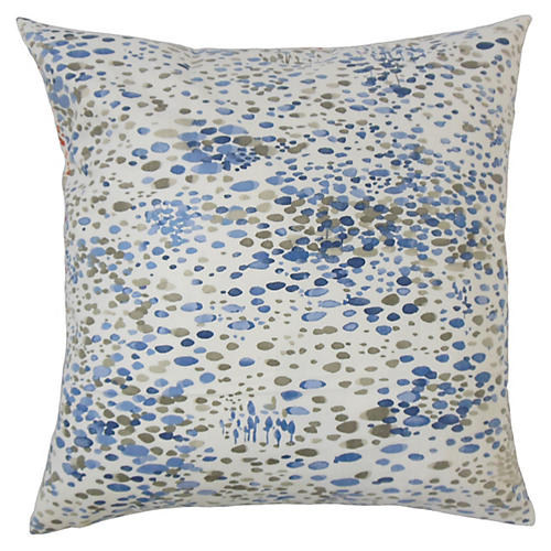 Pom 20x20 Pillow, Blue