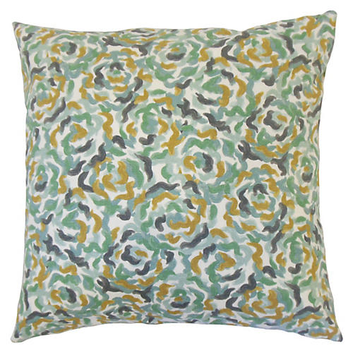 Junayd 20x20 Graphic Pillow, Green