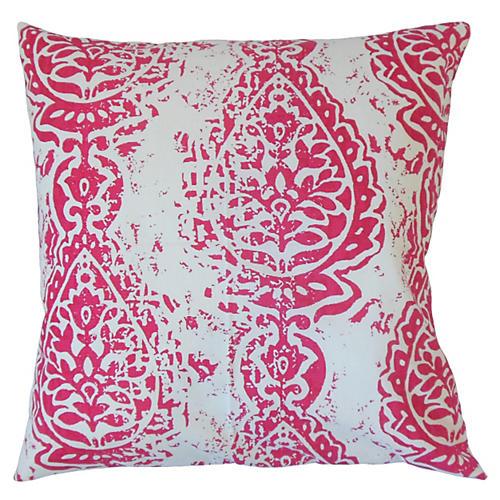 Yordana 20x20 Ikat Pillow, Pink