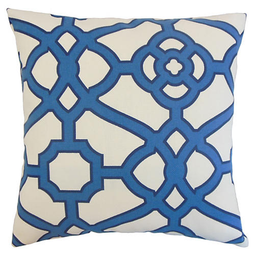 Faina 20x20 Outdoor Pillow, Blue