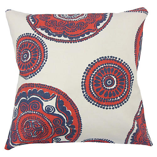 Aubriella Pillow, Blue/Multi