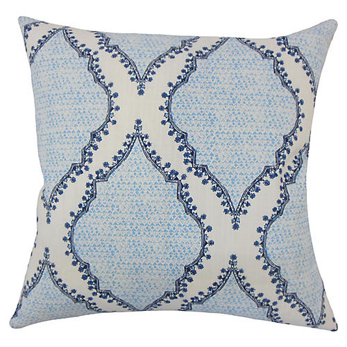 Dakoata Cotton Pillow, Blue