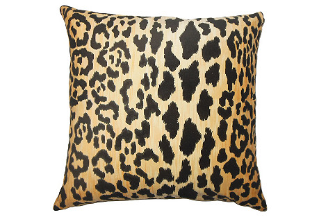 Darby Cotton Pillow, Black
