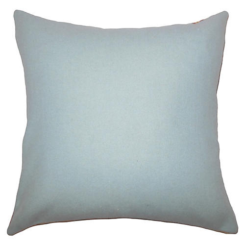Trish Wool Pillow, Aqua