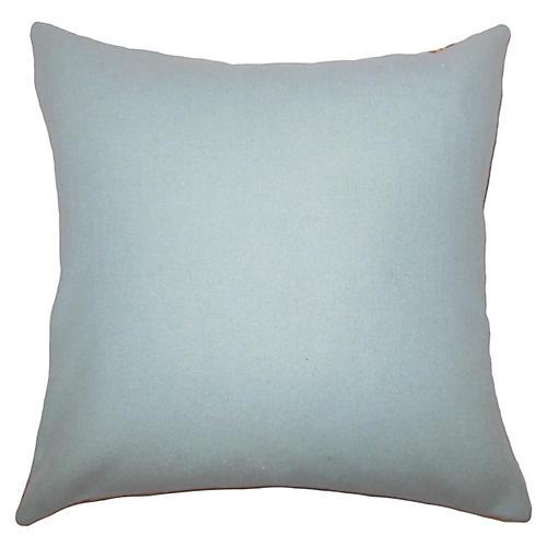 Trish Wool Pillow, Aqua