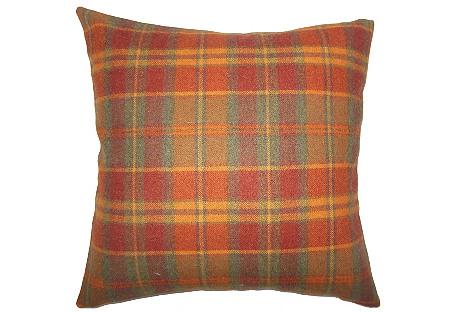 Randy Wool Pillow, Orange