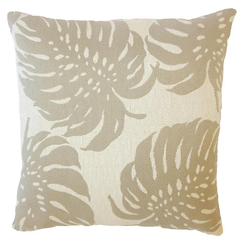 Palm Leaf Outdoor Pillow, Tan