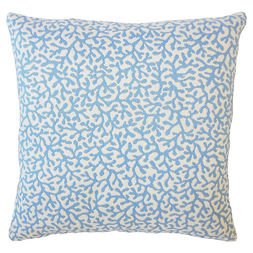 Coral Coaster Outdoor Pillow, Blue