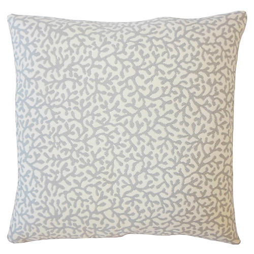 Coral Coaster Outdoor Pillow, Gray
