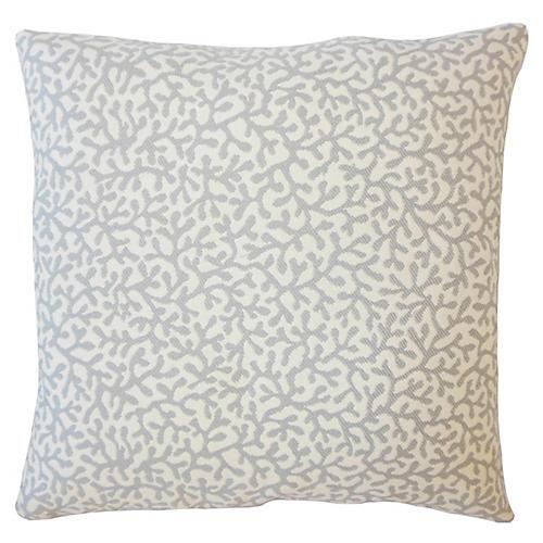 Coral Coaster Outdoor Pillow, Gray