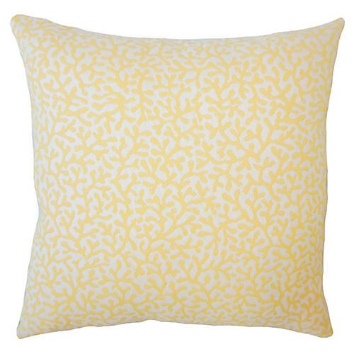 Coral Coaster Outdoor Pillow, Yellow