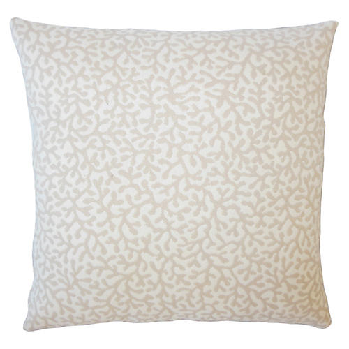 Coral Coaster Outdoor Pillow, Tan