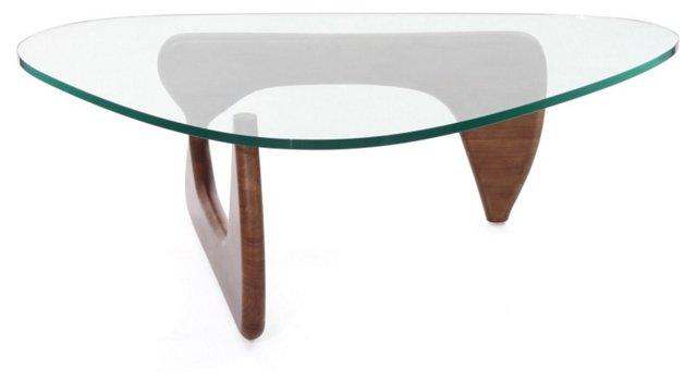 *IK Triangle Coffee Table, Light Walnut