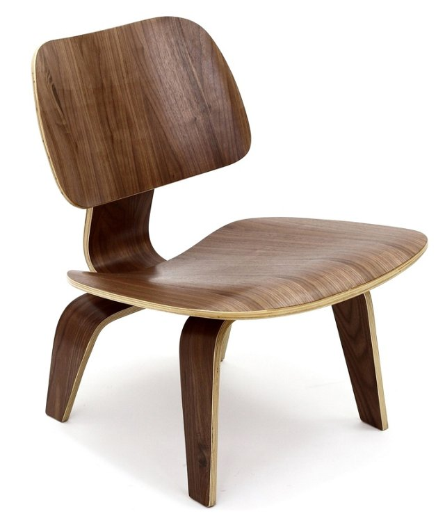 *IK Colbert Wood Lounge Chair, Walnut