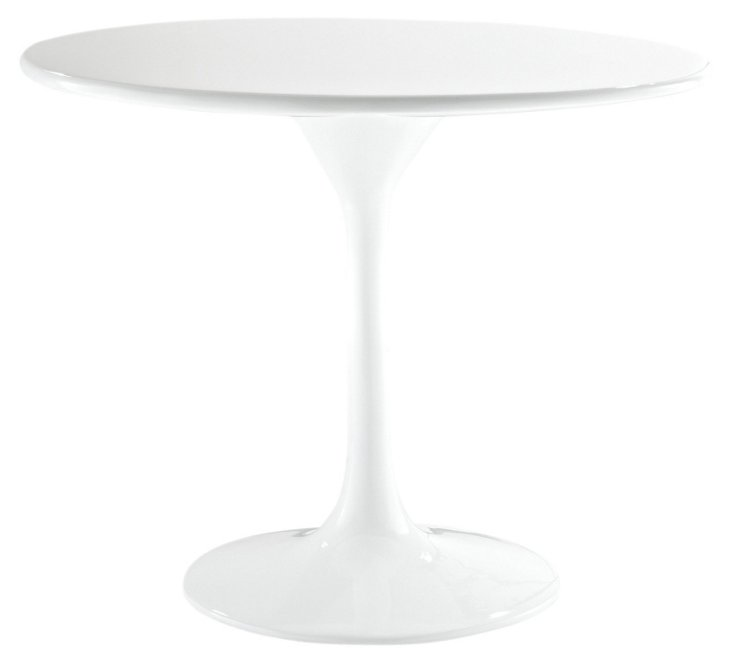 "*IK 24"" Lippa Side Table, White"