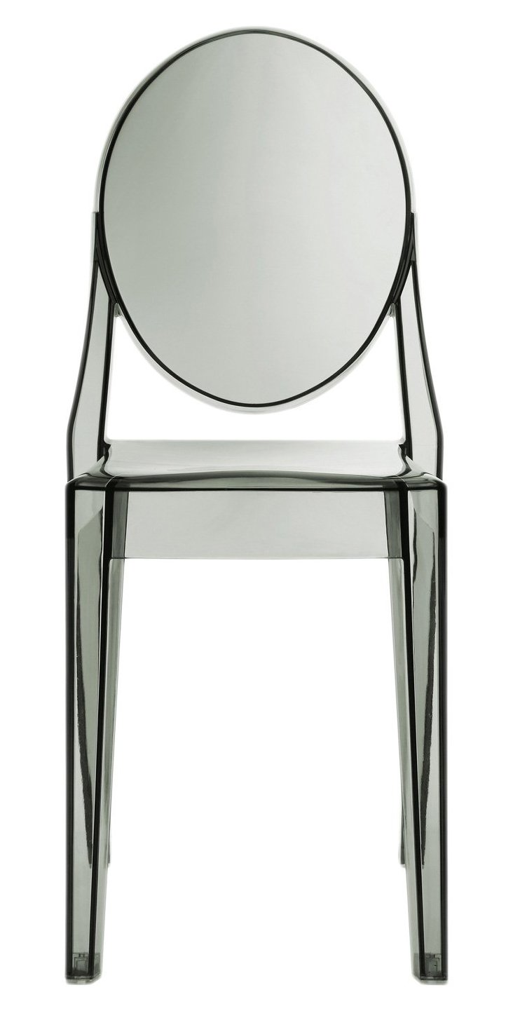 DNU, IK-Bilbao Side Chair, Smoked Clear