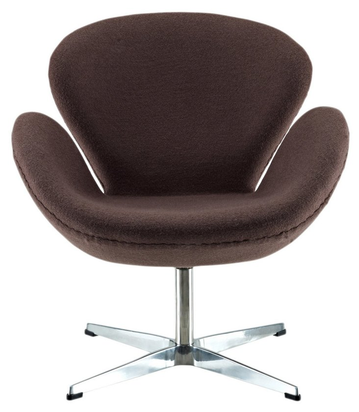 DNU, IK-Antwerp Wing Chair, Dark Brown