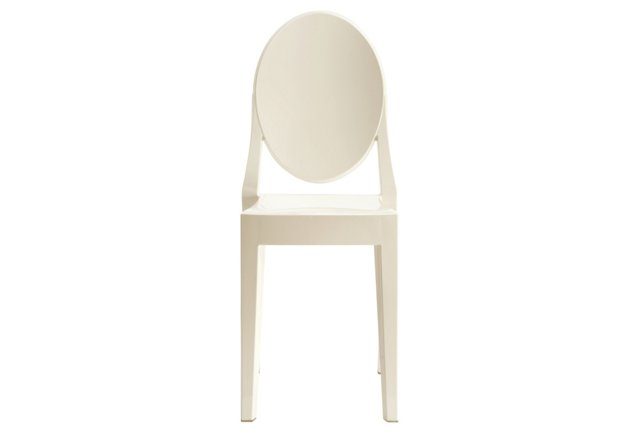 *IK Casper Side Chair, White