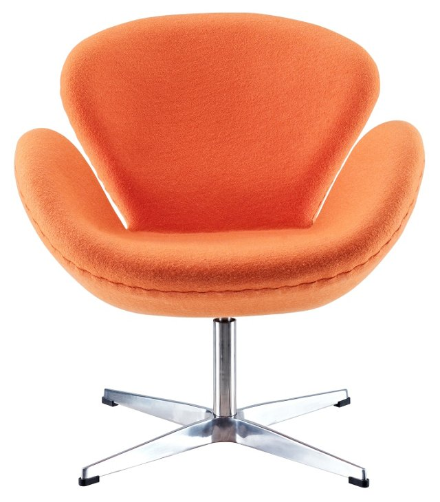 *IK Louisa Wing Chair, Orange