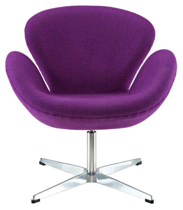 *IK Louisa Wing Chair, Purple