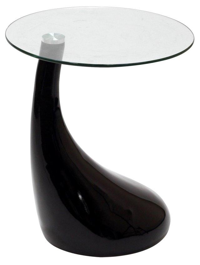 DNU, IK-Teardrop Side Table, Black