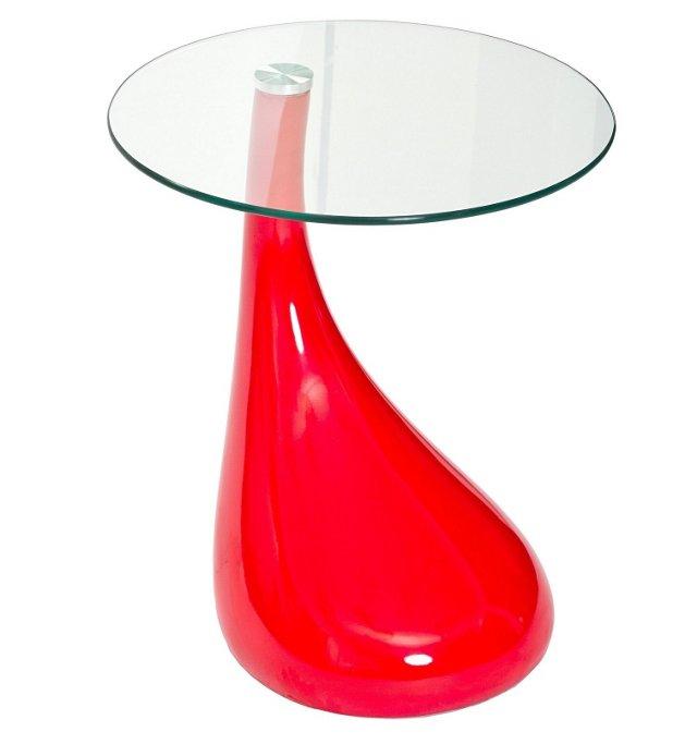 *IK Teardrop Side Table, Red