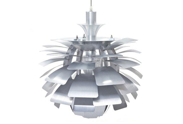 "Trafton 19"" Petal Lamp, Silver"