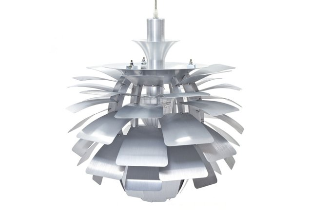 "Trafton 24"" Petal Lamp, Silver"