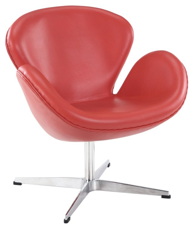 DNU, IK-Antwerp Wing Chair, Red